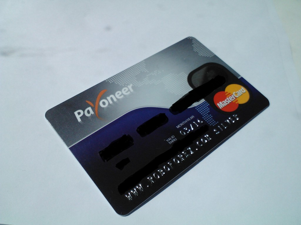 payoneer debetine kortele