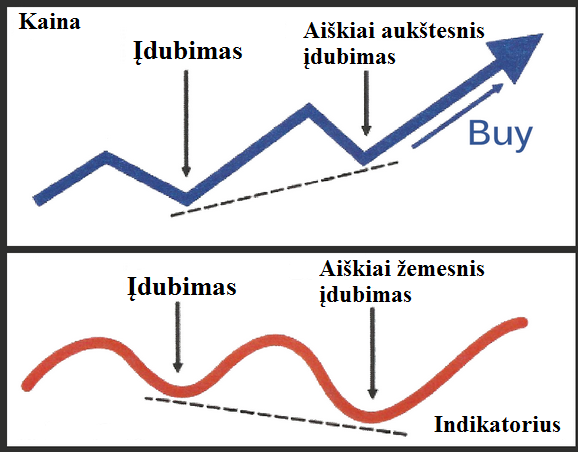Pasleptoji buliu divergencija