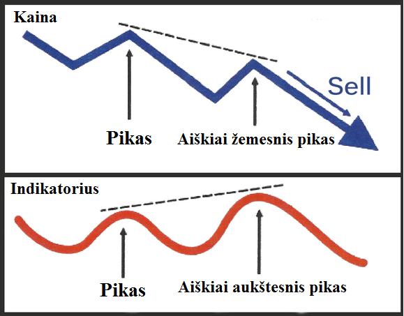 pasleptoji mesku divergencija