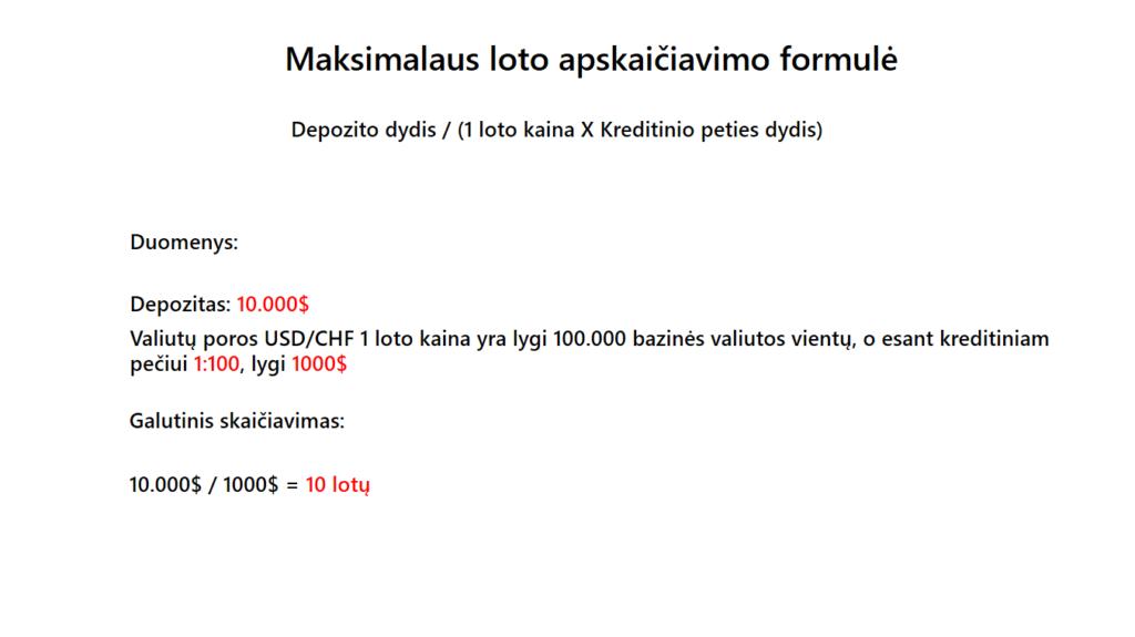 maksimalaus loto apskaiciavimo formule usdchf